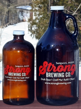 Strong Brewing Growlers