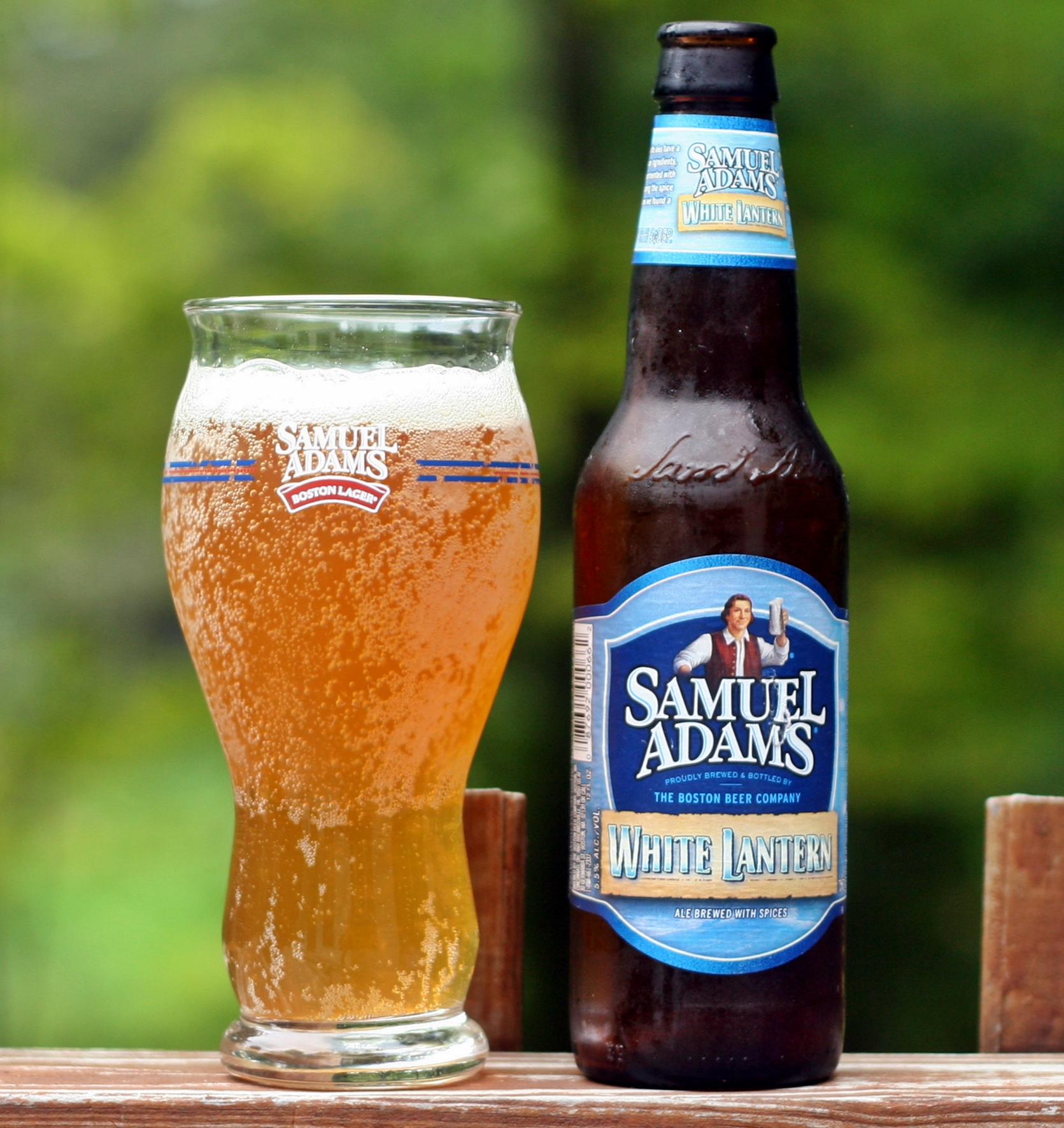 495  Samuel Adams White LanternSamuel Adams Beer Glass